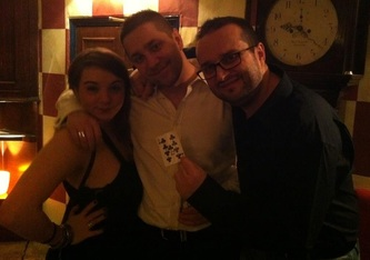 Three Romanians at a party in London