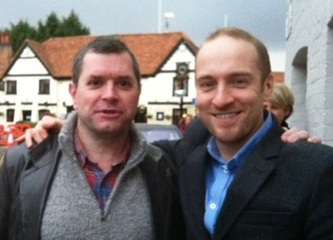 Mike Stoner with Derren Brown