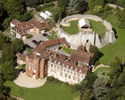 Farnham Castle from the air